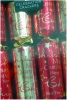 Celebration Crackers Cube Red & Gold 'Christmas' x 12