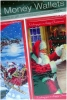 Christmas Money Wallet Card Traditional x 4