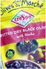 Cresp Black Pitted Dry Black Olives With Herbs 70g