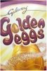 milk chocolate egg with bag of golden eggs