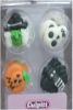 witches, skulls, pumpkins and bats x 4 each