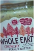 Whole Earth Peanut Butter 227g Crunchy
